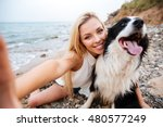 cheerful cute young woman...   Shutterstock . vector #480577249