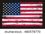 grunge usa flag.vector american ... | Shutterstock .eps vector #480578770