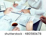 closeup of business peoples... | Shutterstock . vector #480580678