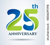 25th years anniversary label... | Shutterstock .eps vector #480609598