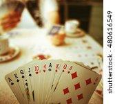 The bridge cards game.