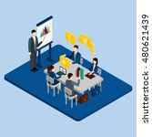business meeting concept with... | Shutterstock . vector #480621439
