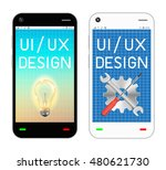 smartphone with ui and ux...
