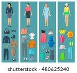 vertical banners set of woman...   Shutterstock . vector #480625240