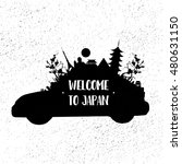 welcome to japan. vector... | Shutterstock .eps vector #480631150