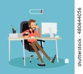 tired | Shutterstock . vector #480644056