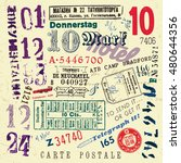 vector document stamp set....   Shutterstock .eps vector #480644356