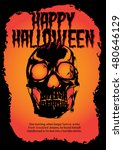 halloween poster skull | Shutterstock .eps vector #480646129