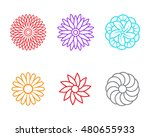 flower icons in linear style ... | Shutterstock .eps vector #480655933