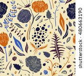 seamless pattern with... | Shutterstock .eps vector #480663190