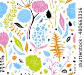 seamless pattern with... | Shutterstock .eps vector #480663316