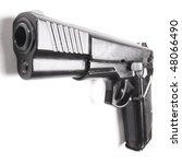 handgun close up isolated on...   Shutterstock . vector #48066490