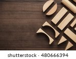 wooden building blocks toy on... | Shutterstock . vector #480666394