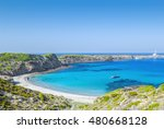 cala presili beach with the... | Shutterstock . vector #480668128