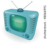tv with antenna. vector... | Shutterstock .eps vector #48066991