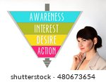 aida. awareness  interest ... | Shutterstock . vector #480673654