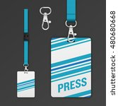 set of lanyard and badge. open... | Shutterstock .eps vector #480680668