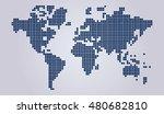 modern map. dotted map. hi fi... | Shutterstock .eps vector #480682810