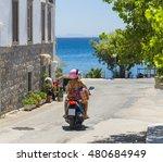 Motor Bike Sea   Greek Island...