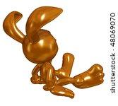 mini chocolate easter bunny | Shutterstock . vector #48069070