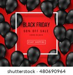 black friday sale poster with...