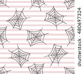 spiderweb. seamless pattern.... | Shutterstock .eps vector #480697324