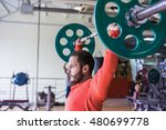 fitness man exercising with... | Shutterstock . vector #480699778
