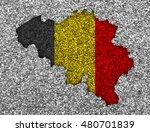 map and flag of belgium | Shutterstock . vector #480701839