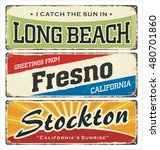 vintage tin sign collection... | Shutterstock .eps vector #480701860