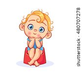 little baby boy sitting without ... | Shutterstock .eps vector #480707278