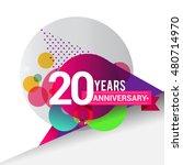 20 years anniversary logo with... | Shutterstock .eps vector #480714970