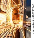 spot welding machine industrial ... | Shutterstock . vector #480717268