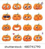 halloween decoration jack o...   Shutterstock .eps vector #480741790
