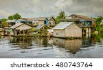 water villages tonle sap is the ... | Shutterstock . vector #480743764