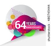 64 years anniversary logo ... | Shutterstock .eps vector #480745444