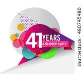 41 years anniversary logo ... | Shutterstock .eps vector #480745480