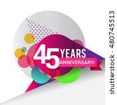 45 years anniversary logo ... | Shutterstock .eps vector #480745513