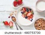 Healthy Breakfast. Yogurt With...