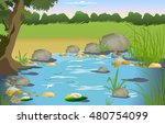 nature  lake | Shutterstock .eps vector #480754099