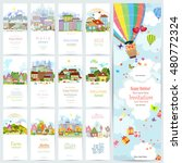 lovely set banners of cute... | Shutterstock .eps vector #480772324