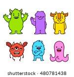 cute cartoon funny monsters....