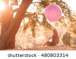 kid girl 4 5 years playing with ... | Shutterstock . vector #480803314