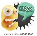 3d rendering angry character... | Shutterstock . vector #480805963