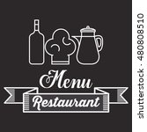 restaurant menu food design | Shutterstock .eps vector #480808510
