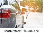 back of car parking in line and ... | Shutterstock . vector #480808570