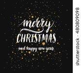 merry christmas. vector hand... | Shutterstock .eps vector #480809098