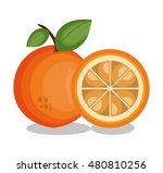 icon orange slice design | Shutterstock .eps vector #480810256