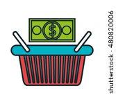 basket e commerce shop online... | Shutterstock .eps vector #480820006