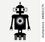 amphibious robot  icon  flat... | Shutterstock .eps vector #480821170