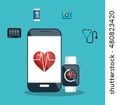 digital healthcare service... | Shutterstock .eps vector #480823420